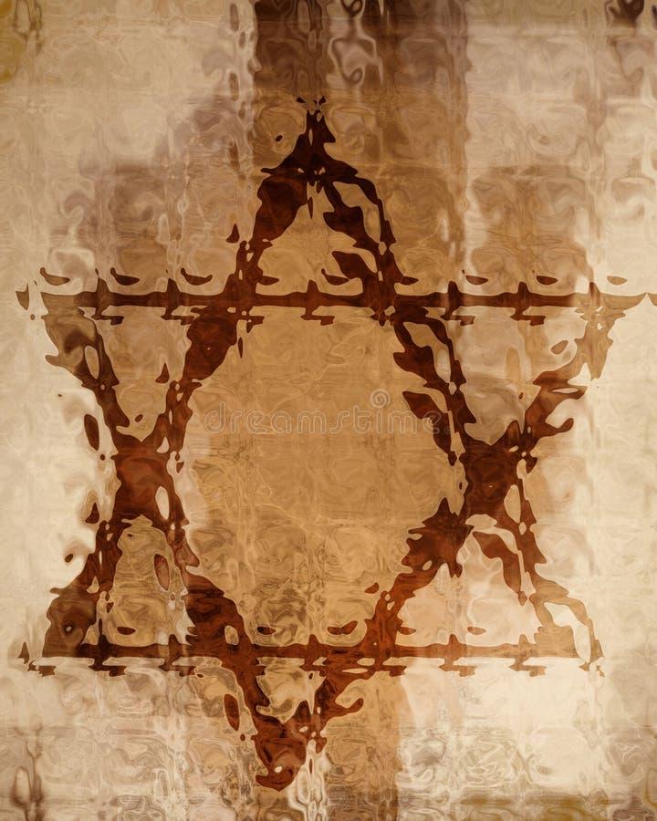 τρισδιάστατο αστέρι απεικόνισης του Δαβίδ ελεύθερη απεικόνιση δικαιώματος
