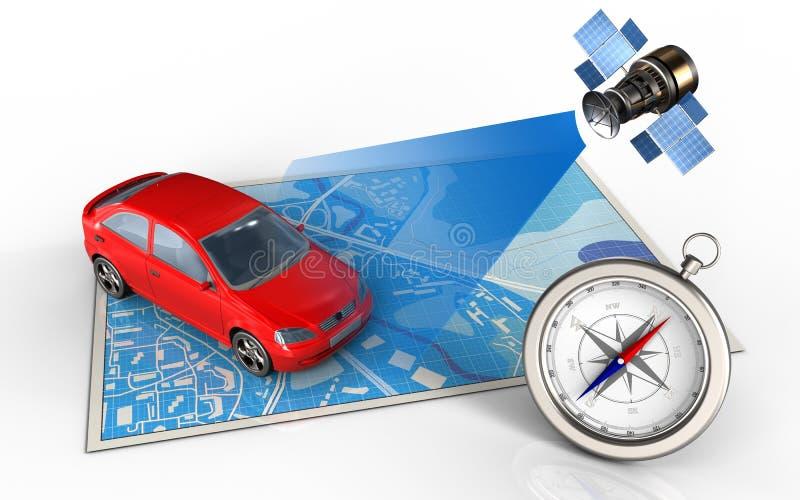 τρισδιάστατο αυτοκίνητο ελεύθερη απεικόνιση δικαιώματος