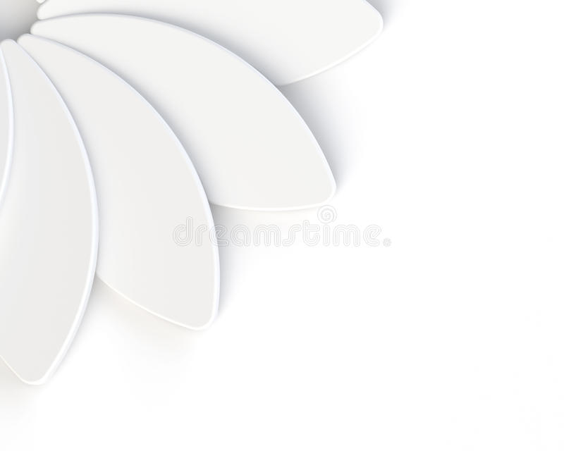 τρισδιάστατο αφηρημένο άσπρο λουλούδι στο άσπρο υπόβαθρο διανυσματική απεικόνιση