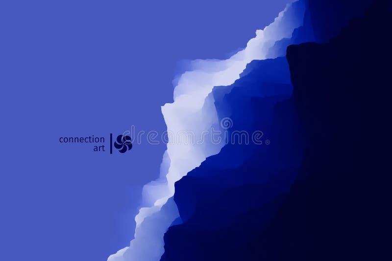 τρισδιάστατο αφηρημένο δι ανασκόπηση κυματιστή Τέχνη σύνδεσης Σχέδιο σχεδίου διανυσματική απεικόνιση