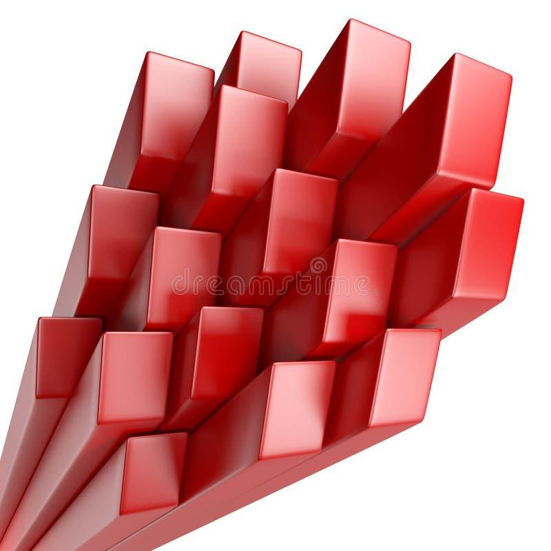 τρισδιάστατο αφηρημένο υπόβαθρο των κύβων διανυσματική απεικόνιση