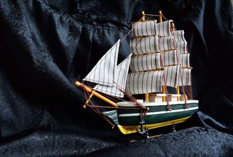 τρισδιάστατο ηλιοβασίλεμα σκαφών ναυσιπλοΐας τοπίων στοκ φωτογραφίες με δικαίωμα ελεύθερης χρήσης