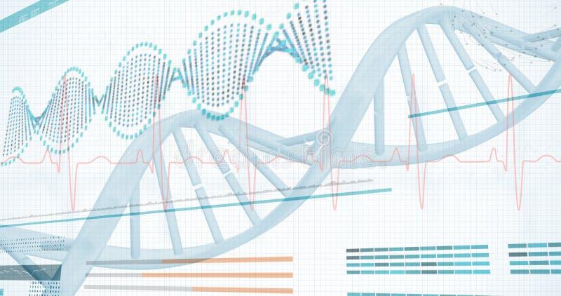 τρισδιάστατο διάγραμμα ελίκων του DNA ελεύθερη απεικόνιση δικαιώματος