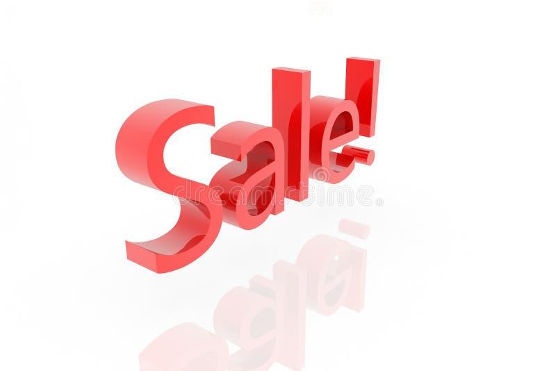 τρισδιάστατο κείμενο πώλησης απεικόνιση αποθεμάτων