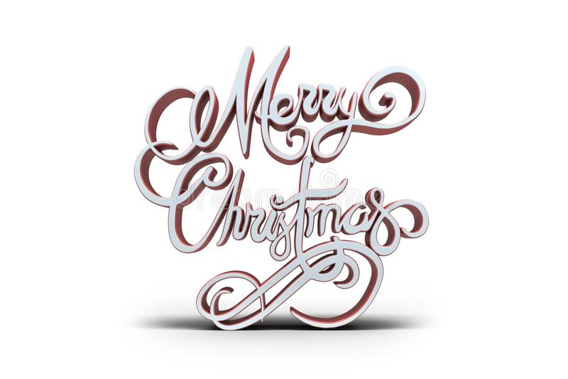 Τρισδιάστατο κείμενο της Χαρούμενα Χριστούγεννας απεικόνιση αποθεμάτων