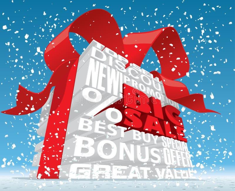Τρισδιάστατο κείμενο χειμερινής μεγάλο πώλησης απεικόνιση αποθεμάτων