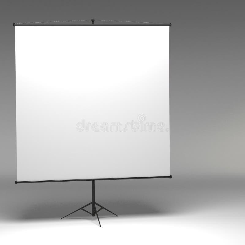 τρισδιάστατο κενό Whiteboard διανυσματική απεικόνιση