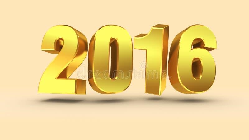 τρισδιάστατο μέταλλο απόδοσης τρισδιάστατη λέξη 2016 στοκ εικόνα