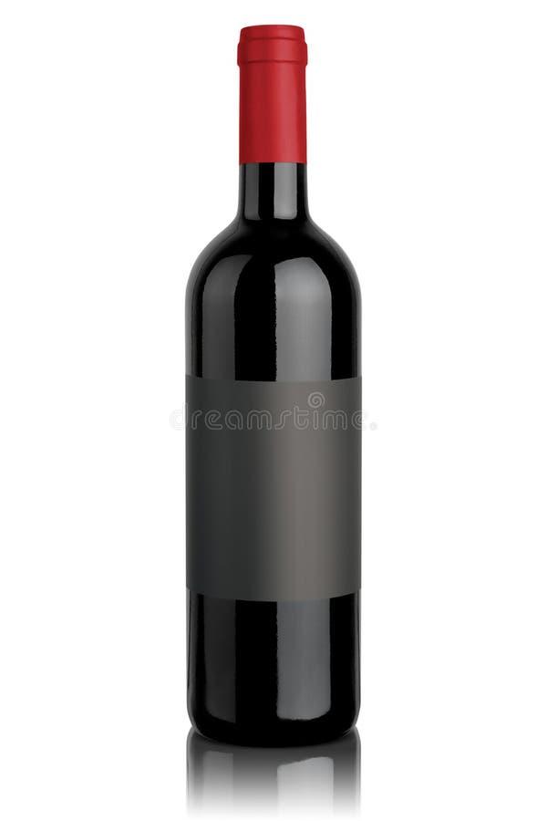 τρισδιάστατο μπουκαλιών υψηλό απεικόνισης κρασί ανάλυσης εικόνας κόκκινο στοκ εικόνες με δικαίωμα ελεύθερης χρήσης