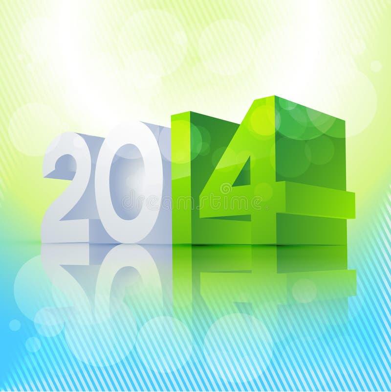τρισδιάστατο νέο έτος ύφους απεικόνιση αποθεμάτων