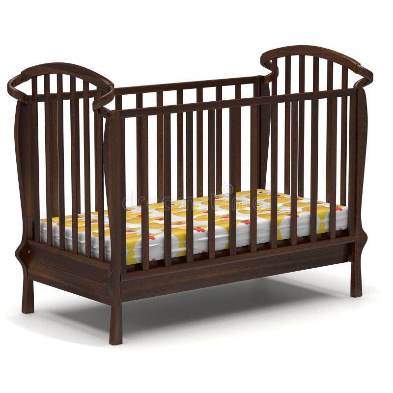 τρισδιάστατο παχνί μωρών απεικόνισης στο λευκό διανυσματική απεικόνιση