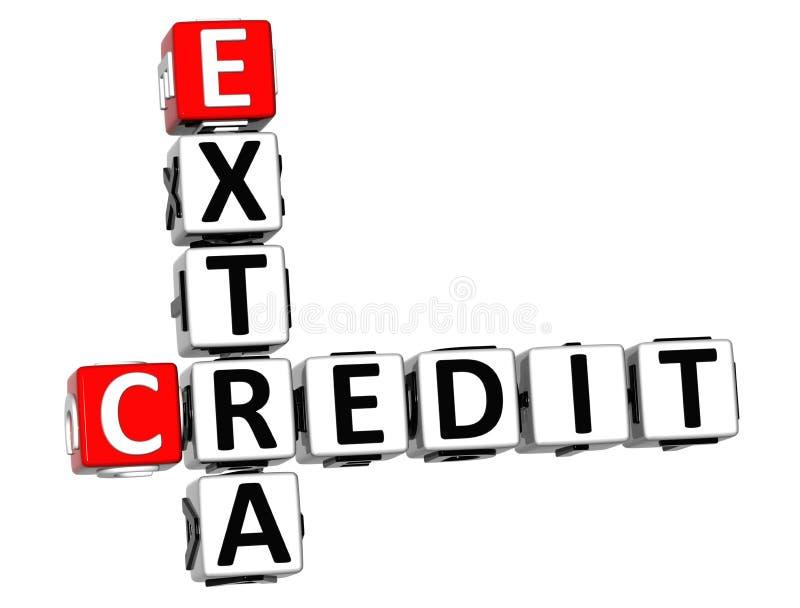 τρισδιάστατο πρόσθετο πιστωτικό σταυρόλεξο απεικόνιση αποθεμάτων