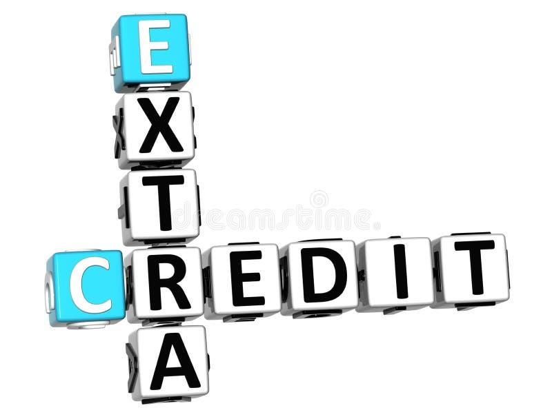 τρισδιάστατο πρόσθετο πιστωτικό σταυρόλεξο διανυσματική απεικόνιση