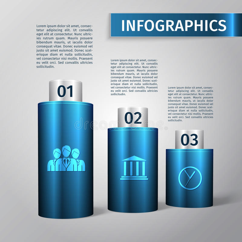 Τρισδιάστατο πρότυπο Infographic διανυσματική απεικόνιση