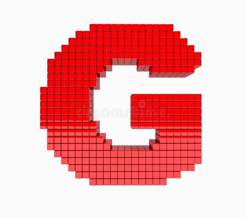 τρισδιάστατο σχέδιο το αγγλικό αλφάβητο αξιομνημόνευτο στοκ εικόνα με δικαίωμα ελεύθερης χρήσης