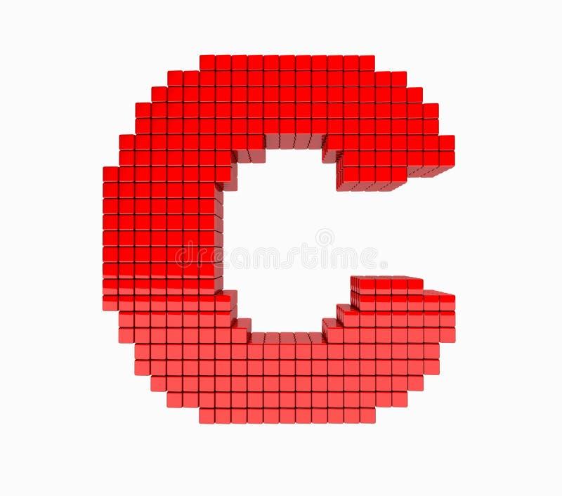 τρισδιάστατο σχέδιο το αγγλικό αλφάβητο αξιομνημόνευτο στοκ εικόνα