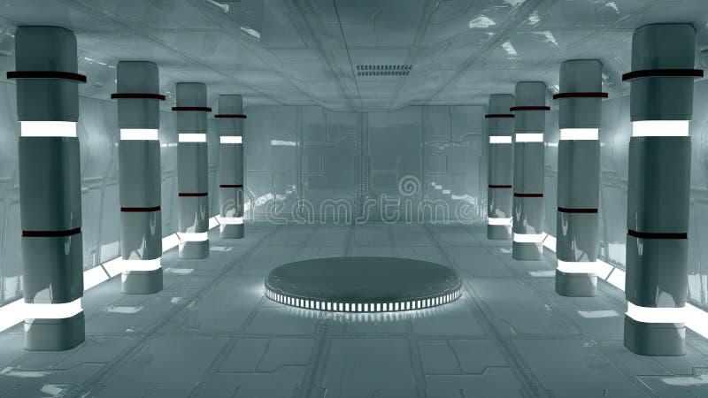 Φουτουριστικό εσωτερικό διανυσματική απεικόνιση