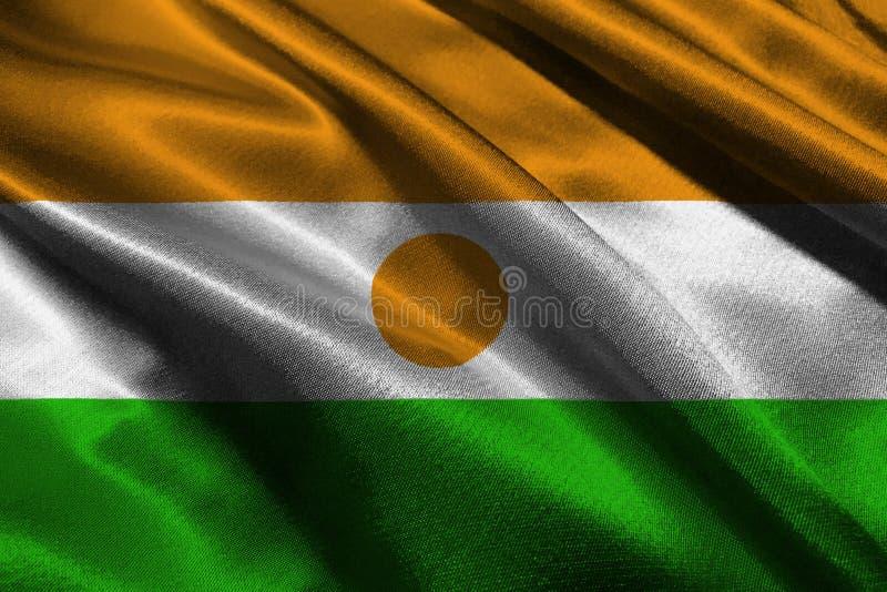 Τρισδιάστατο σύμβολο απεικόνισης εθνικών σημαιών του Νίγηρα Σημαία του Νίγηρα στοκ φωτογραφία
