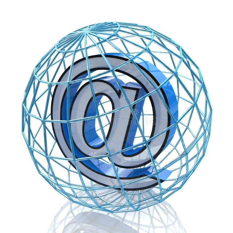 τρισδιάστατο σύμβολο ηλεκτρονικού ταχυδρομείου διανυσματική απεικόνιση