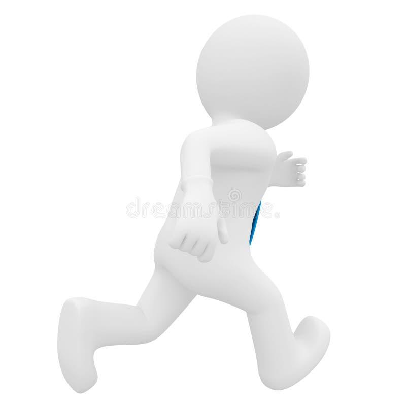 τρισδιάστατο τρέξιμο ατόμων διανυσματική απεικόνιση