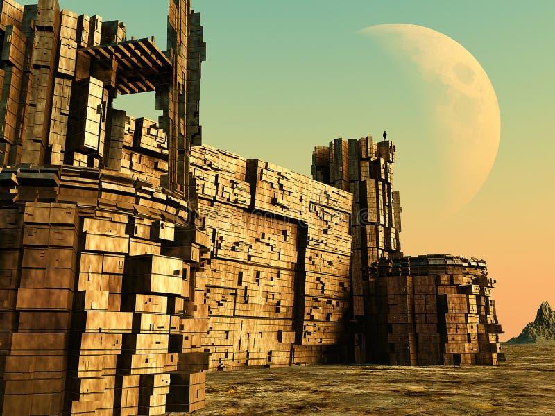 τρισδιάστατο φρούριο διανυσματική απεικόνιση