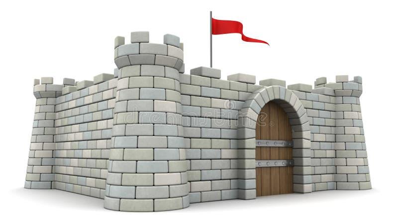 τρισδιάστατο φρούριο απεικόνιση αποθεμάτων