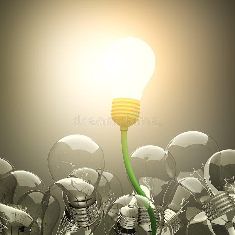 τρισδιάστατο φως βολβών διανυσματική απεικόνιση