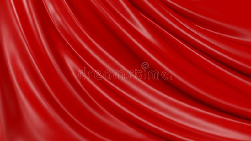 τρισδιάστατο ύφασμα υποβάθρου απεικόνισης αφηρημένο κόκκινο απεικόνιση αποθεμάτων