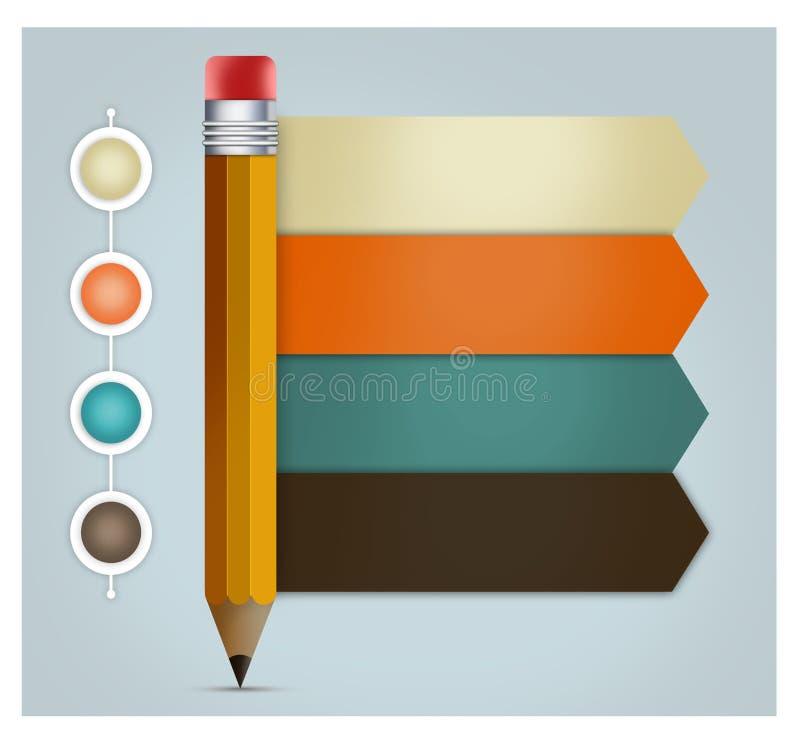 τρισδιάστατο infographics επιλογών μολυβιών απεικόνιση αποθεμάτων
