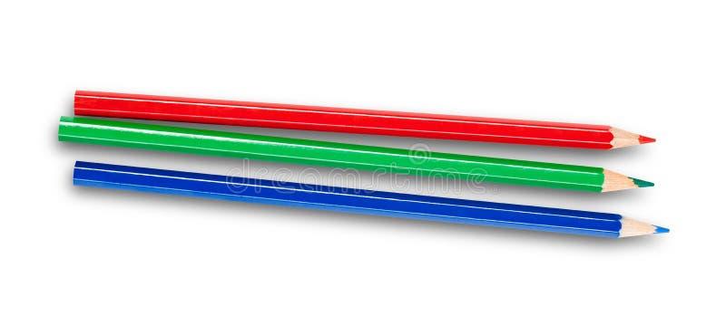 τρισδιάστατο rgb λευκό μολυβιών στοκ φωτογραφίες με δικαίωμα ελεύθερης χρήσης