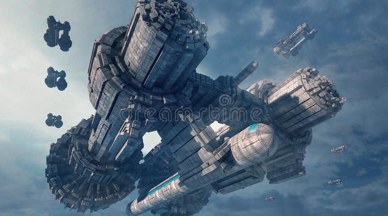 τρισδιάστατο UFO απεικόνιση αποθεμάτων