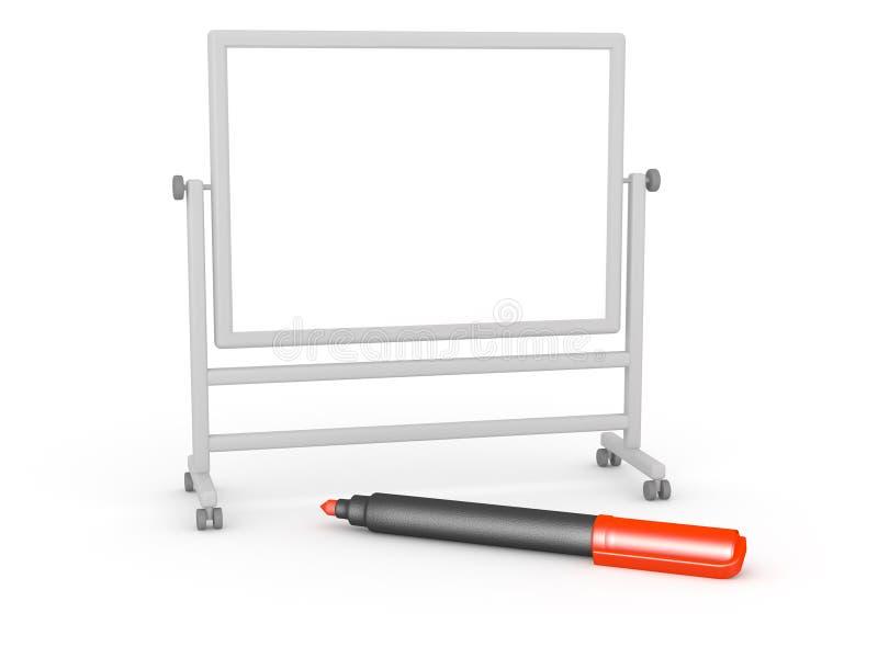 τρισδιάστατο Whiteboard και κόκκινος δείκτης διανυσματική απεικόνιση