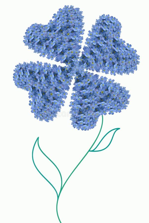 τριφύλλι τέσσερα φύλλο απεικόνιση αποθεμάτων
