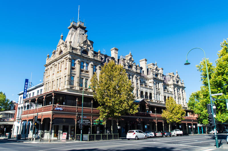 Τριφύλλι ξενοδοχείων σε Bendigo, Αυστραλία στοκ εικόνες
