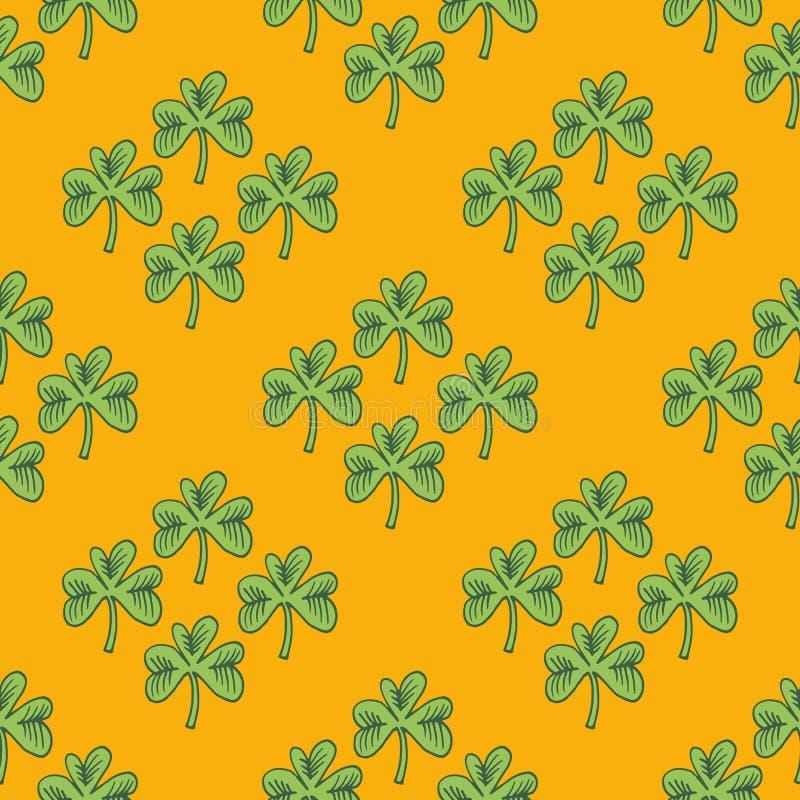 Τριφύλλι pattern1 διανυσματική απεικόνιση