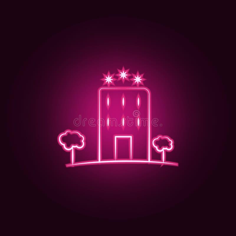 τριών αστέρων εικονίδιο νέου ξενοδοχείων Στοιχεία του συνόλου ταξιδιού Απλό εικονίδιο για τους ιστοχώρους, σχέδιο Ιστού, κινητό a ελεύθερη απεικόνιση δικαιώματος