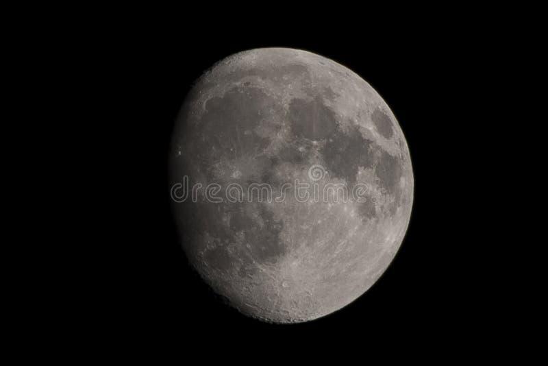 Τριών τετάρτων φεγγάρι στοκ εικόνες