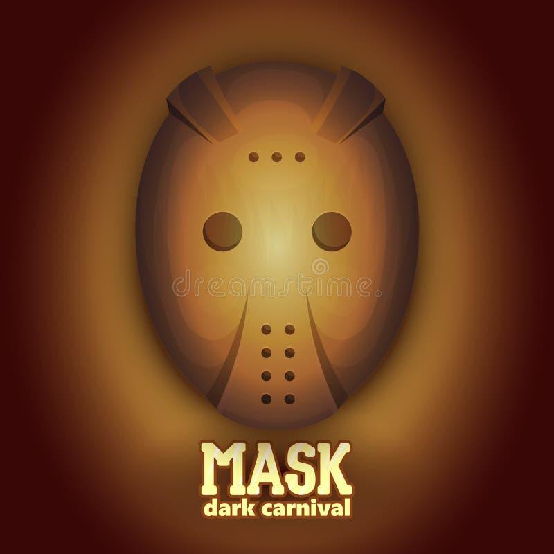 Τρομακτική μάσκα καρναβαλιού χόκεϋ Υψηλή δυναμική απεικόνιση rangeVector απεικόνιση αποθεμάτων