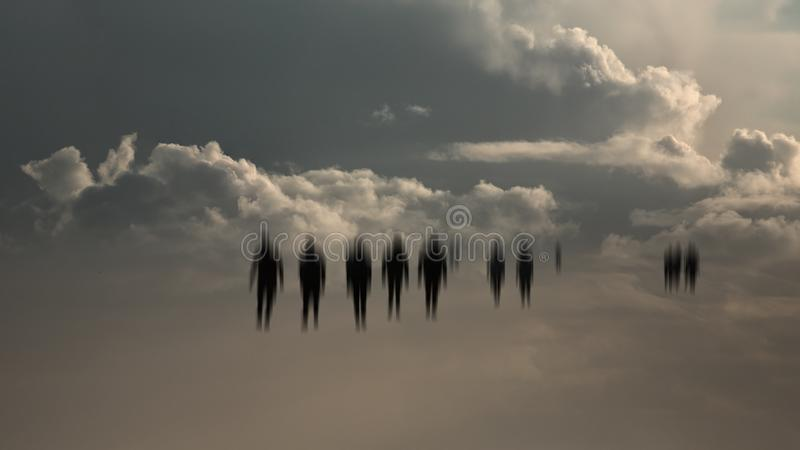 Τρομακτικοί άνθρωποι Defocused στοκ φωτογραφία