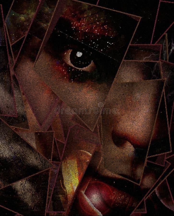 Τρομακτικό πρόσωπο απεικόνιση αποθεμάτων