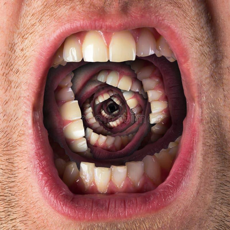 Τρομακτικό στόμα κραυγής στοκ φωτογραφία με δικαίωμα ελεύθερης χρήσης