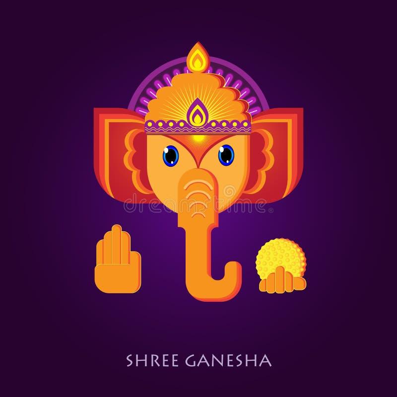 Τρομερή διανυσματική εικόνα Ganesha ελεύθερη απεικόνιση δικαιώματος