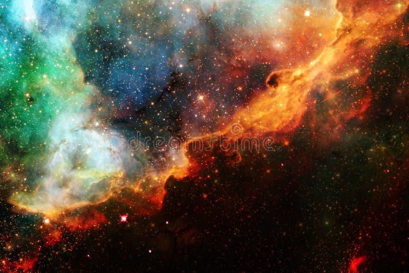 Τρομερός γαλαξίας στο μακρινό διάστημα Starfields του ατελείωτου κόσμου στοκ φωτογραφίες με δικαίωμα ελεύθερης χρήσης