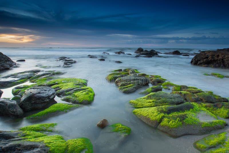 τρομερός mossy βράχος στοκ εικόνες με δικαίωμα ελεύθερης χρήσης