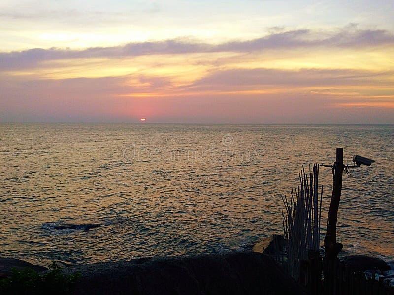 Τρομερό koh ηλιοβασιλέματος προορισμού tao Ταϊλάνδη στοκ εικόνα