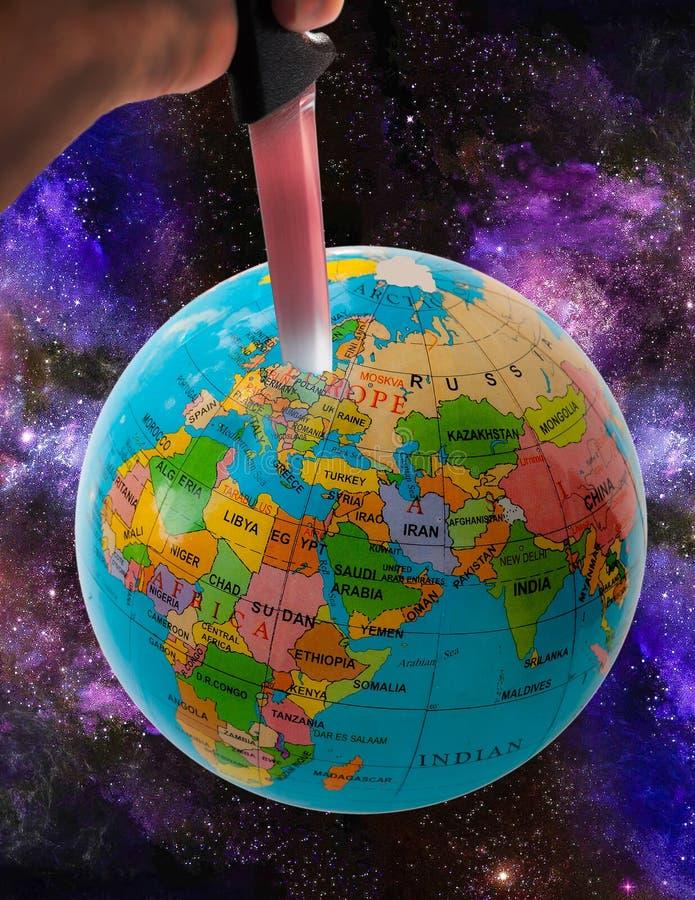 Τρομοκρατία στο πλανήτη Γη στοκ φωτογραφία