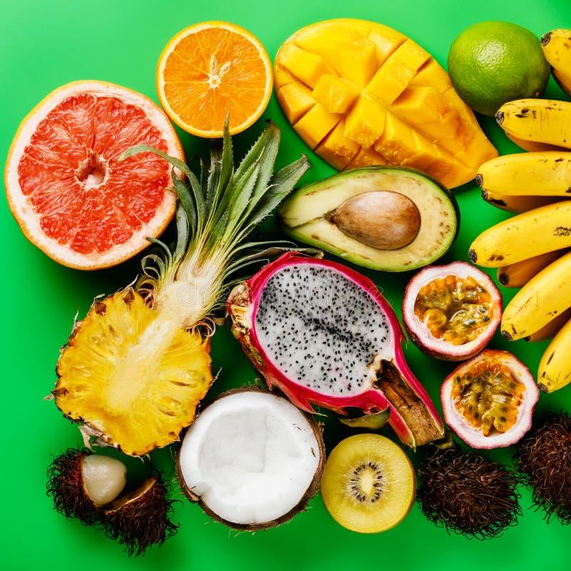 Τροπικά εξωτικά φρούτα ανάμεικτα στοκ φωτογραφίες με δικαίωμα ελεύθερης χρήσης