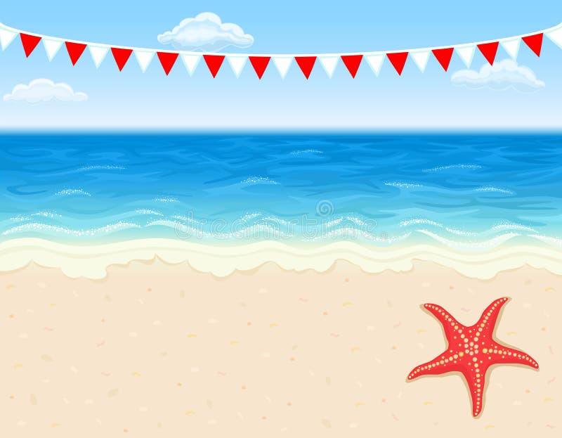 τροπικές διακοπές παραλ&io διανυσματική απεικόνιση