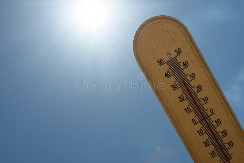 Τροπική έννοια θερμοκρασίας στοκ φωτογραφίες