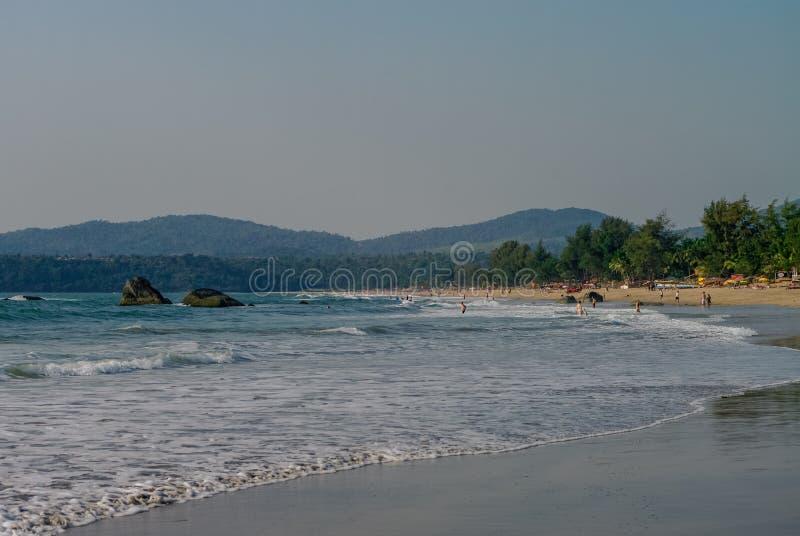 Τροπική παραλία στο χωριό Agonda, κράτος Goa στοκ φωτογραφία με δικαίωμα ελεύθερης χρήσης